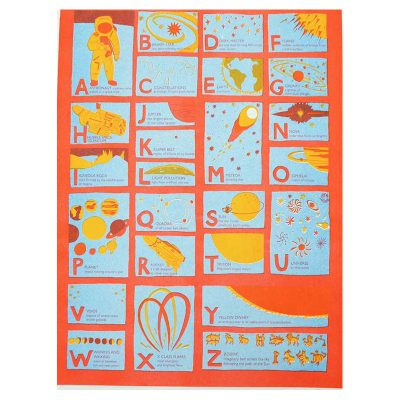 Astronomy Alphabet Risograph by East End Press