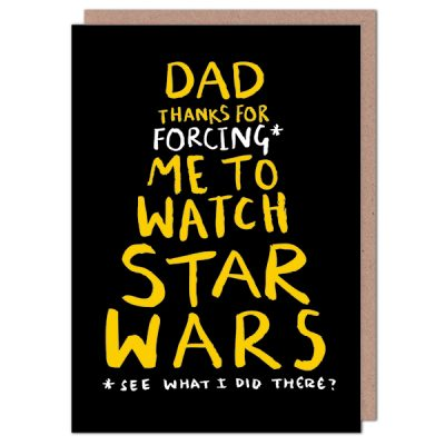 star wars father's day card by Lauren Goodland
