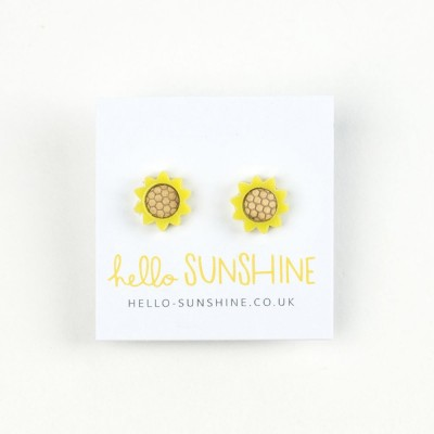 sunflowers, garden, sunflower necklace, bright yellow, big flower