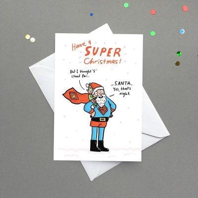 super santa card