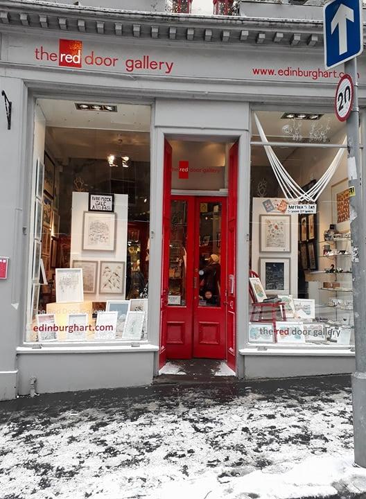 David Fleck window at the red door gallery