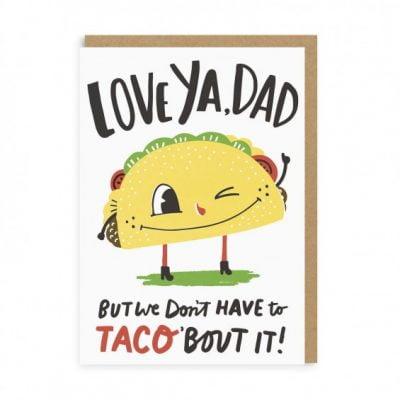 taco dad card at the red door gallery