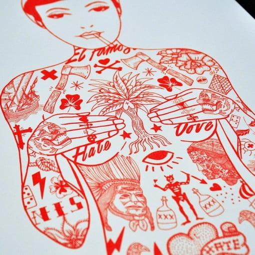 tat girl, tattoos, tattoo lady, rich fairhead