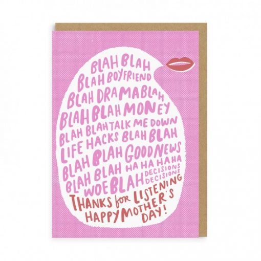 Thanks for listening Mum Card by Hello Lucky x Ohh Deer