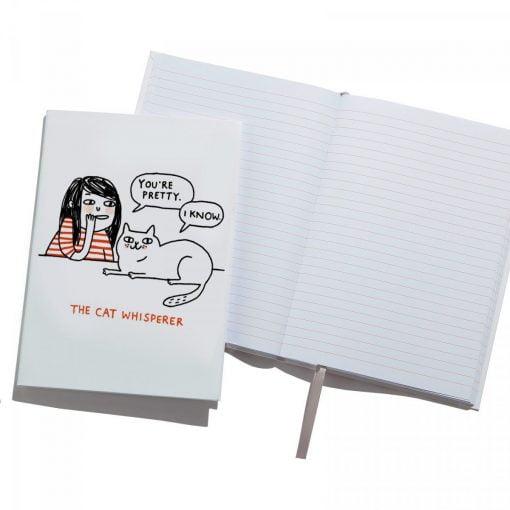cat whisperer, pretty, modest cat, illustration, gemma correll