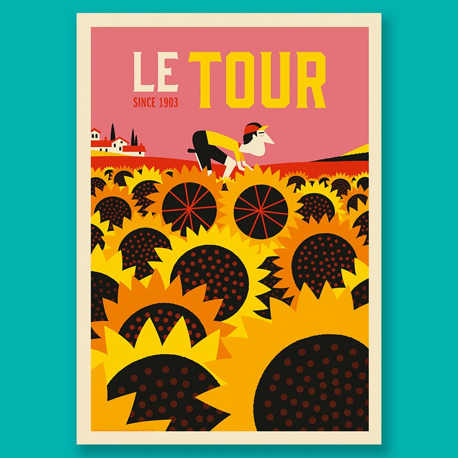 Le Tour de France Sunflowers by Spencer Wilson