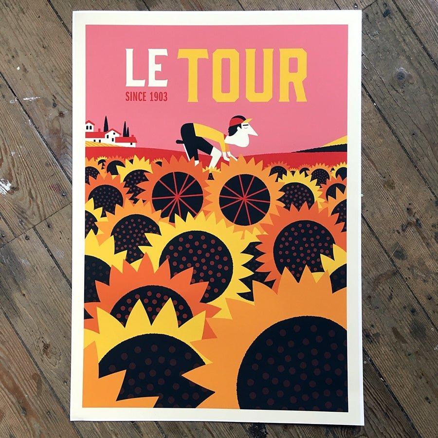 Le Tour de France Sunflowers by Spencer Wilson