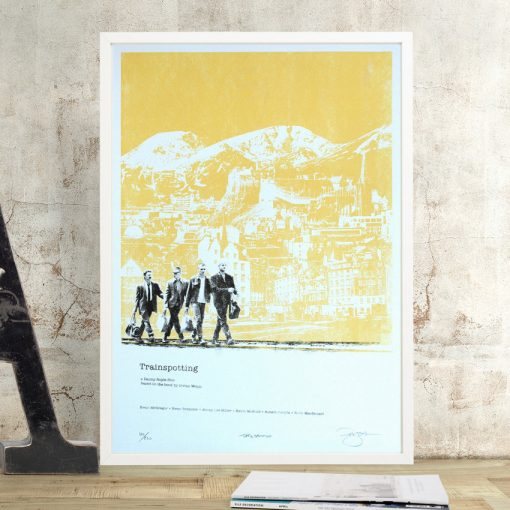 Trainspotting Screen Print by Barry Bulsara, Movie Print, Irvine Welsh