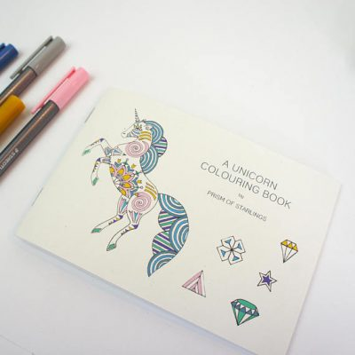 unicorn colouring book
