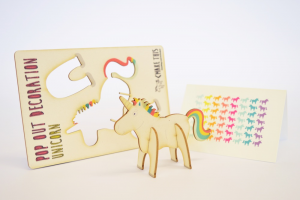 unicorn - made- pop out card