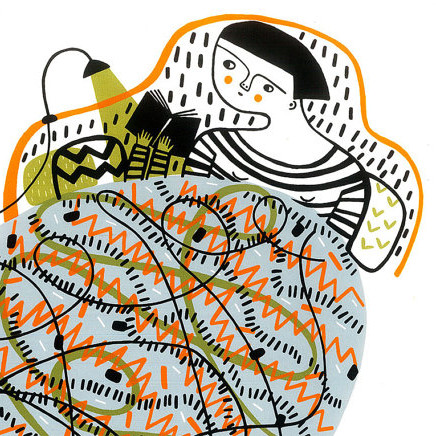 Mina Braun, Illustration, Screen Print, Colourful, Wooly Blanket