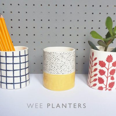 Ceramic Wee Planters by Jeff Josephine