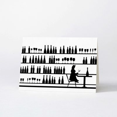 wine tasting rabbit card