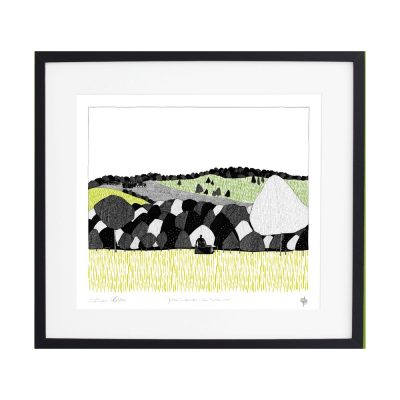 yorkshire sculpture park, countryside views, screen print, georgia bosson, cecily vessey